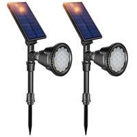 18 светодиодный фонарь Солнечная фонарь для ландшафтного сада-контроль светодиодный датчик точечный свет открытый сад газон настенный водо...