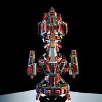 3D DIY Metal Puzzle Flaming Spaceship Model Laser Cut Assembly Jigsaw Toys Adults Kids Educational Collection Assemble Toy Model