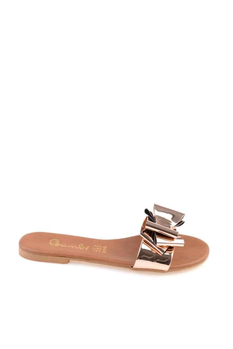 Bambi cobre chinelos femininos f0331002239