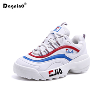 New Fashion Women White Casual Shoes Tenis Feminino Ladies Brand Breathable Platform Sneakers Height Increasing Zapatillas Mujer