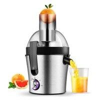 Exprimidores de acero inoxidable de 220 V Extractor de jugo eléctrico de 3 velocidades máquina de beber de fruta para licuadora eléctrica portátil para el hogar