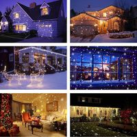 Christmas LED Snowfall Projection Lamp Waterproof Outdoor with Remote Control Snowflake Landscape Light for Xmas Party Decor