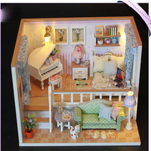 Because Of You Dollhouse DIY Assembly Furniture Miniature Model Kits Children Kids Doll House Toys Birthday Gifts For Friends