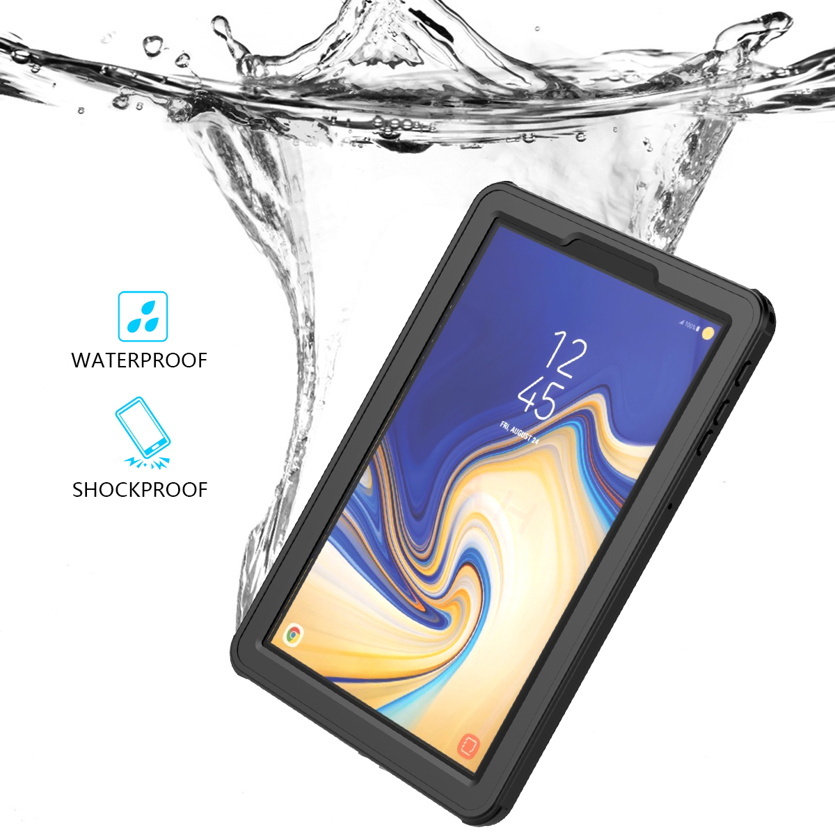 For Samsung Galaxy Tab S4 10.5 inch T830 T835 Waterproof Tablet Case Shockproof Dust Proof Protective Cover For Tab S3/Tab A6For Samsung Galaxy Tab S4 10.5 inch T830 T835 Waterproof Tablet Case Shockproof Dust Proof Protective Cover For Tab S3/Tab A6
