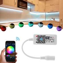 DC 5-28V 7 Colors Changeable LED Strip Light Remote Controller RGB Smart Mini RF Wireless Control for IOS/ Android Phone(China)