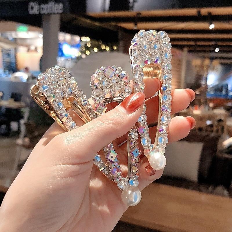 Fashion 1PC Crystal Hairpins Big Hair Clip for Women Girls Rhinestones   Headwear   Pins Barrette Hair Accessories