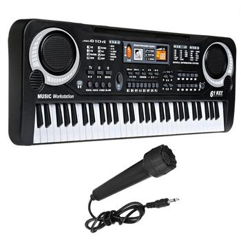 61 Keys Electronic Piano Keyboard Kids Simulation Piano Musical Instrument Toys Children Multifunctional Music Educational