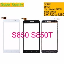 10Pcs/lot For Lenovo S850 S850T S 850 Touch Screen Digitizer Touch Panel Sensor Front Outer Glass Lens S850 Touchscreen 5.0