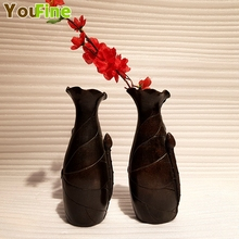 Vintage bronze home decoration vase small indoor art