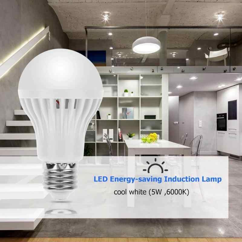 Светодиодный инфракрасный лампочка датчика движения с голосовым управлением 5 вт ночник E27 домашняя энергосберегающая лампа радар домашняя спальня настенный светильник для детей