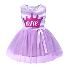 AmzBarley Baby Girls Newborn Its My 1st Birthday dress Printed Tutu Princess Dress infant girls Up Party Dresses