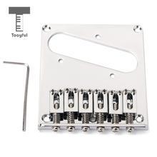 Хром 6 Седла Пепельница мост хвостовик для Telecaster Tele TL сменный фиксатор для электрогитары