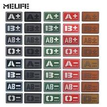 Гери серый Черлидинг сувениры ПВХ A+ B+ AB+ O+ Положительный A-B-AB-O-отрицательный Тип крови группа патч наклейки Швейные наклейки