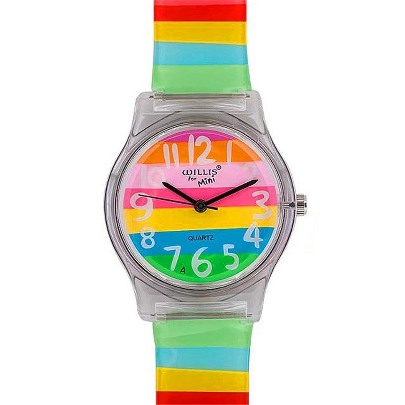 Luxury Brand NAZEYT Women Man Fashion&casual Rainbow Color Wristwatches Children Silicone Waterproof Watches Xmas Gift Watch