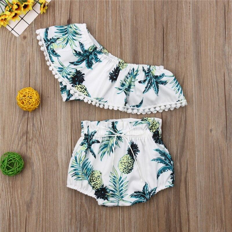 2019 New Toddler Kids Girls Floral Bikini Set Ruffle Crop Tops Shorts Briefs Outfit Set Summer Fashion Swimwear Beachwear