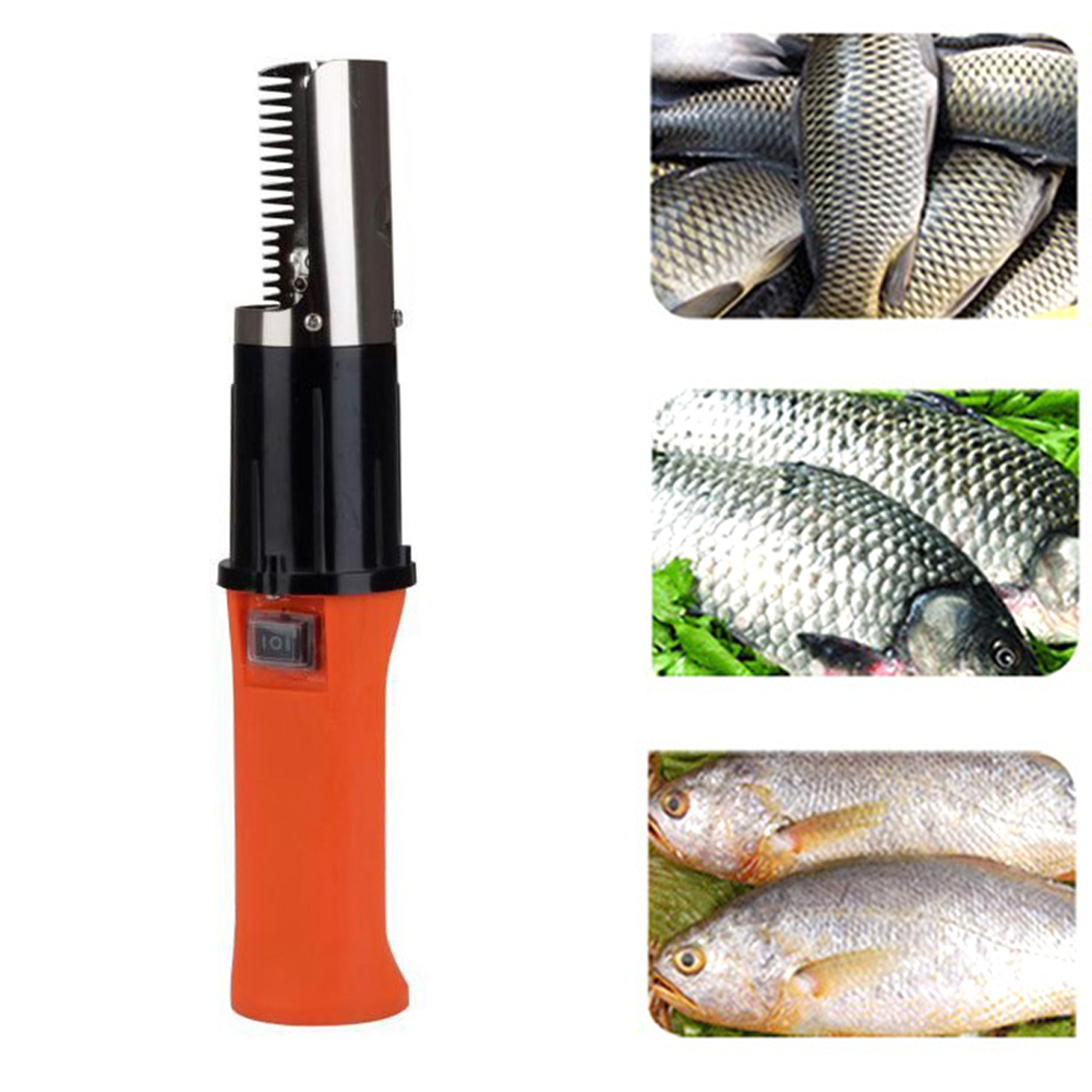 56W Rechargeable Electric Fish Scale Scraper Scaler Clean Brush Remover Kitchen
