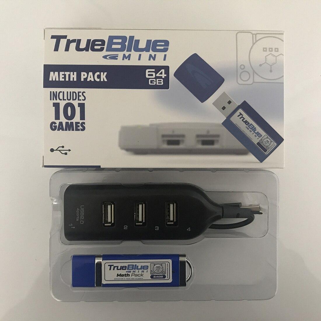 HOBBYINRC vrai bleu Mini 64G 101 jeux craquelé Pack + 64G 101 jeux Meth Pack pour PlayStation classique jeux & accessoires - 6