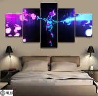5 Panel Akali K/DA LOL League of Legends Game Canvas Printed Painting For Living Room Wall Art Decor HD Picture Artworks Poster