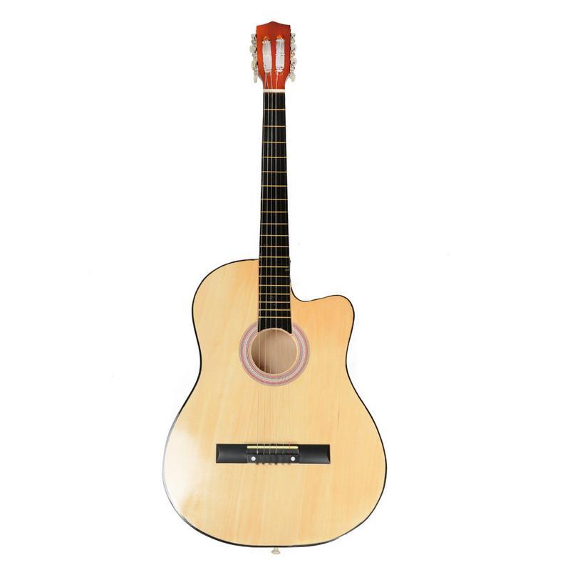 38 pouces 19 frettes coupe guitare acoustique Basswood touche contreplaqué corps Guitarra pour enfants débutants amateurs de guitare
