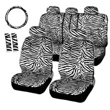 carnong car seat cover universal winter autumn zebra leopard print warmer short plush cute charming female lady auto covers