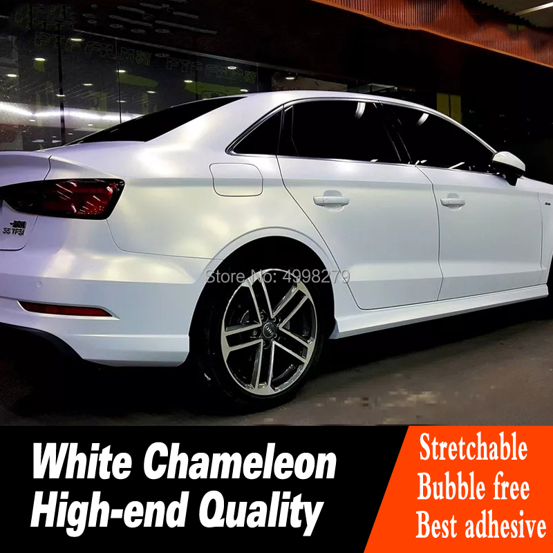 Haute qualité blanc perle caméléon série voiture véhicule vinyle wrap haute flexibilité avec pistolet à chaleur production de tissus haut de gamme
