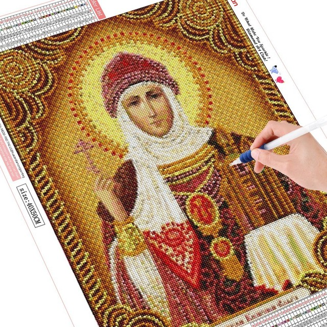 HUACAN DIY Diamond Painting Religion Icon Full Display Rhinestones Full Square Diamond Embroidery Cross Stitch Mosaic