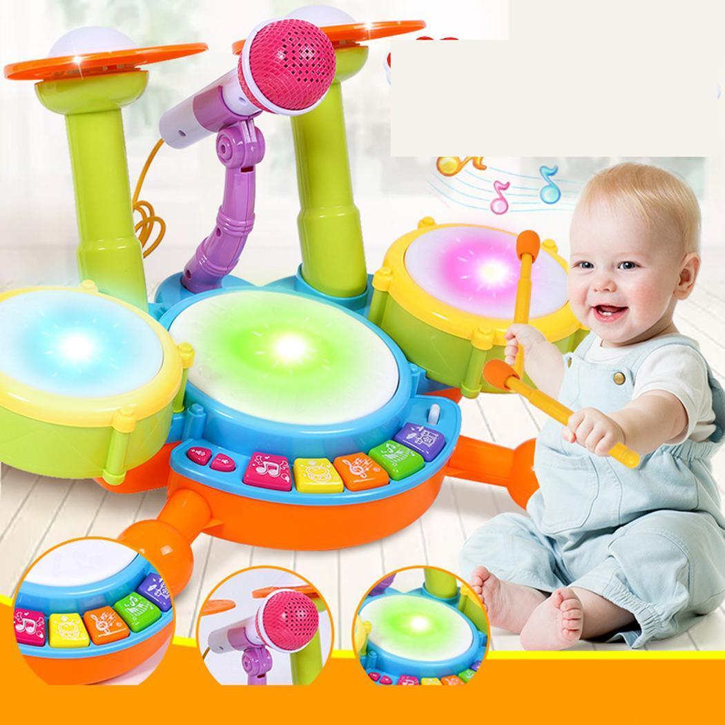Bébé Flash Lumière Batterie Instrument de Musique décontracté Jouet c'est grand cadeau à vos enfants Jouets Interactifs