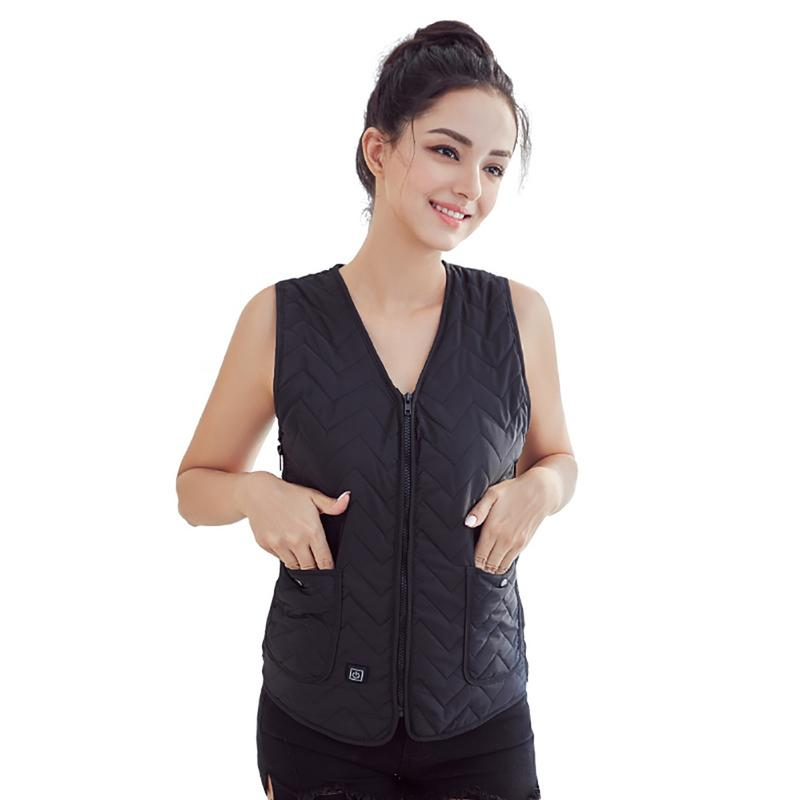 ELOS-Women Vest Heated Outdoor Electric Thermal Waistcoat Clothing For Usb Infrared Heating Vest JacketELOS-Women Vest Heated Outdoor Electric Thermal Waistcoat Clothing For Usb Infrared Heating Vest Jacket
