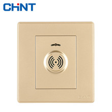 CHINT Sound Control Delay Switch NEW2D Light Champagne Gold Wall And