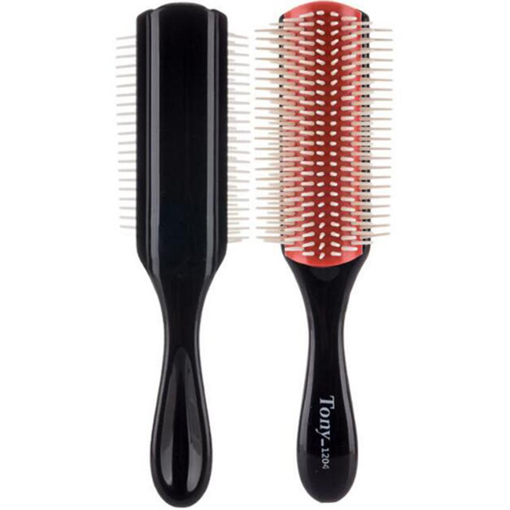 3 Pcs/set 9-Row Comb Teeth Cushion Hair Brush and Edge Brush Set Fashion Styling Comb Tool