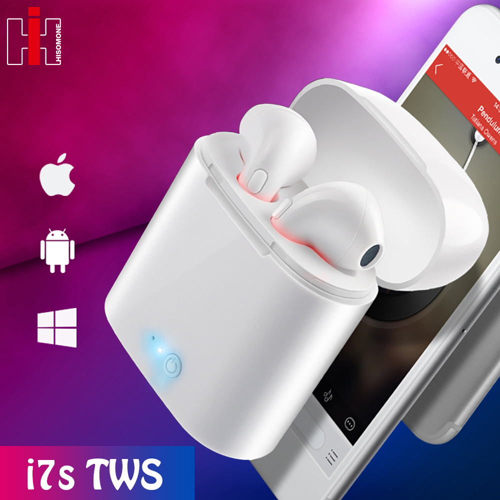 I7s TWS Wireless Bluetooth Earphones Stereo Earbuds Headset Earphone With Charging Case For All