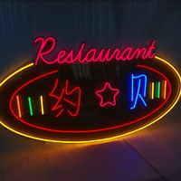 Outdoor LED Neon flexiable light advertising signs letters for coffee shop store