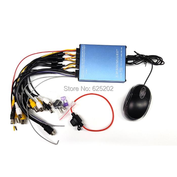 Mini AVI Format با کیفیت عالی 4CH Mobile DVR SDVR004