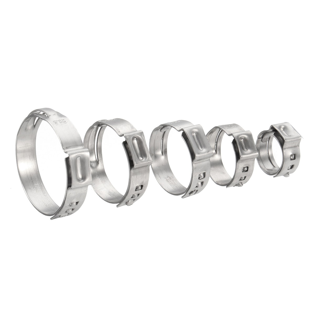 """1/"""" 3//4/"""" PEX Stainless Steel Clamp Cinch Rings Crimp Pinch Fitting- 1//2/"""" 100"""