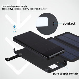 Image 4 - Diy מטען סולארי מתקפל כוח בנק מקרה עמיד למים להסרה Bbattery אחסון תיבת עם 5v2a Pcb HENGCHANG Dropshipping