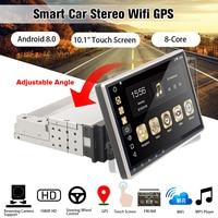 10,1 Android 8,0 автомобильный радиоприемник 1 Din 8 ядерный стерео приемник gps стерео Wifi данные беспроводного обмена аудио автомобильный мультимеди