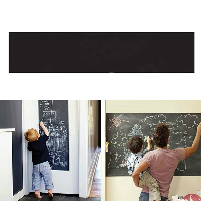 200*45 Cm Rectangle Vinyl Blackboard Waterproof Removable Wall Chalkboard Stickers Message Chalks Decal Stationery Gift