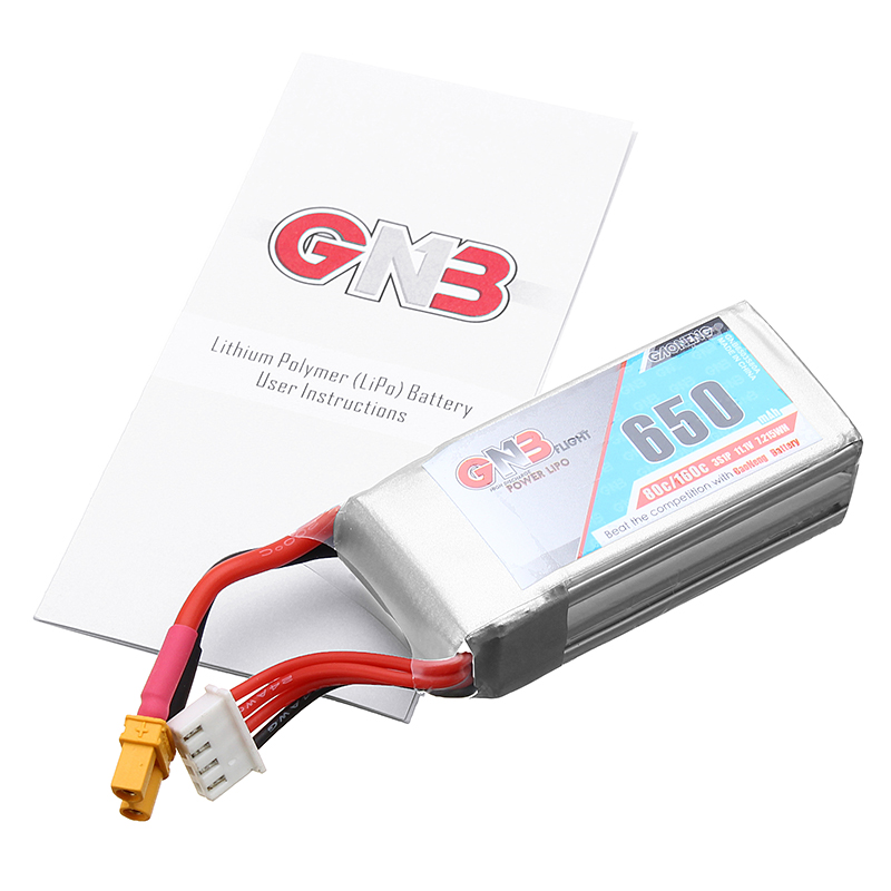 High Quality Gaoneng <font><b>Lipo</b></font> Battery GNB 11.1V <font><b>650mAh</b></font> 80C/160C <font><b>3S</b></font> RC Battery XT30 Plug For RC FPV Models Spare Part DIY Accessories image