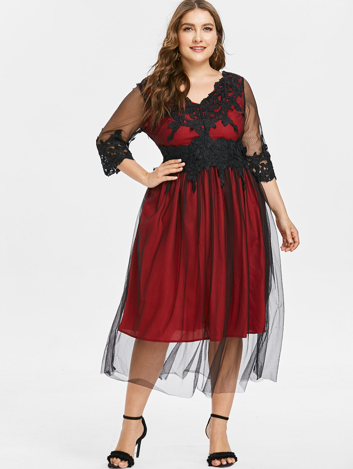 87de2c50c16b5 √ Low price for scalloped laced dress and get free shipping - m3i42l95a