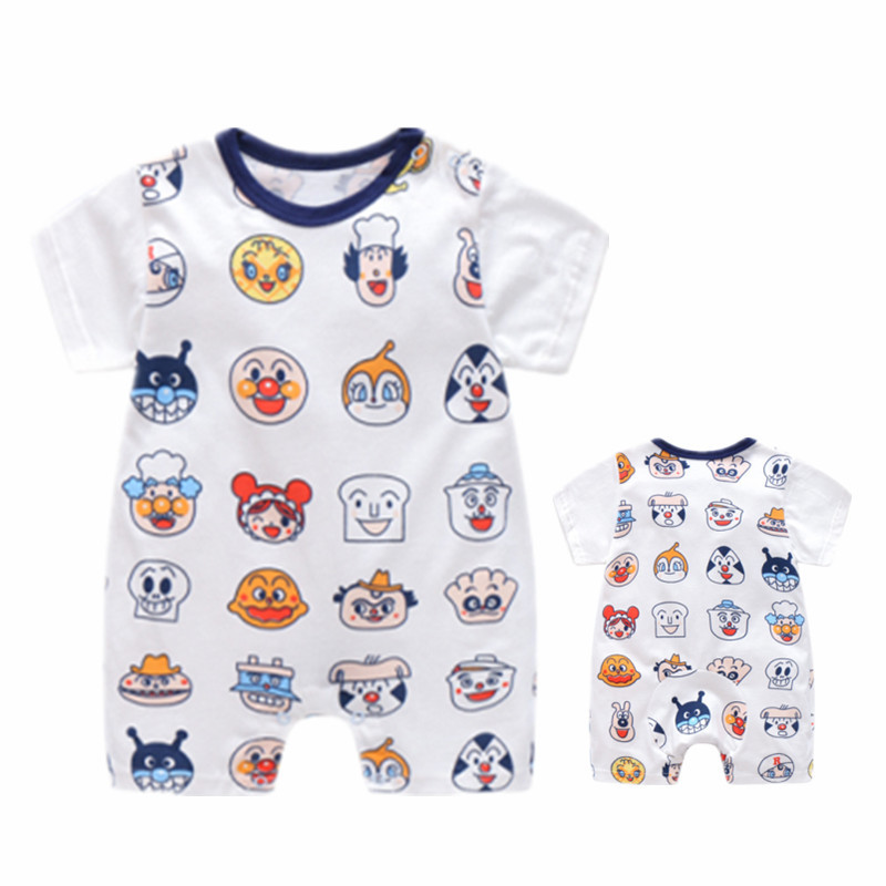 Baby   rompers   carton Anpanman summer cotton bebe   rompers   short sleeve newborn baby clothes toddler baby girls boys   rompers