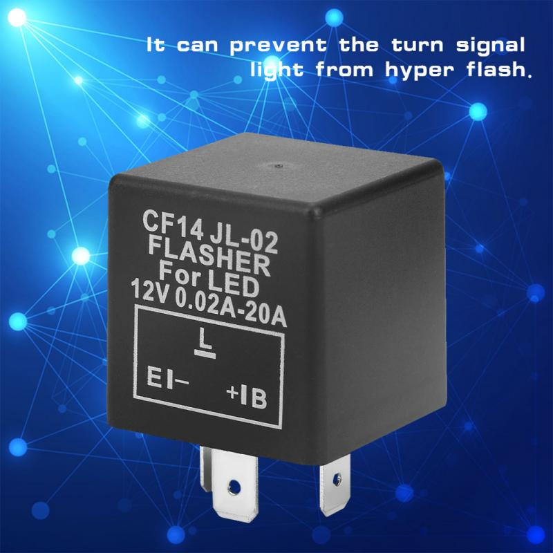 12v Reliable Flasher Relay Cf14 Jl 02 3 Pin Led Flasher