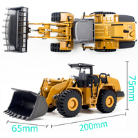 1:50 Scale Simulation Engineering Car Model Construction Site Alloy Bulldozer Vehicle Children Static Excavator Dump Truck Toy