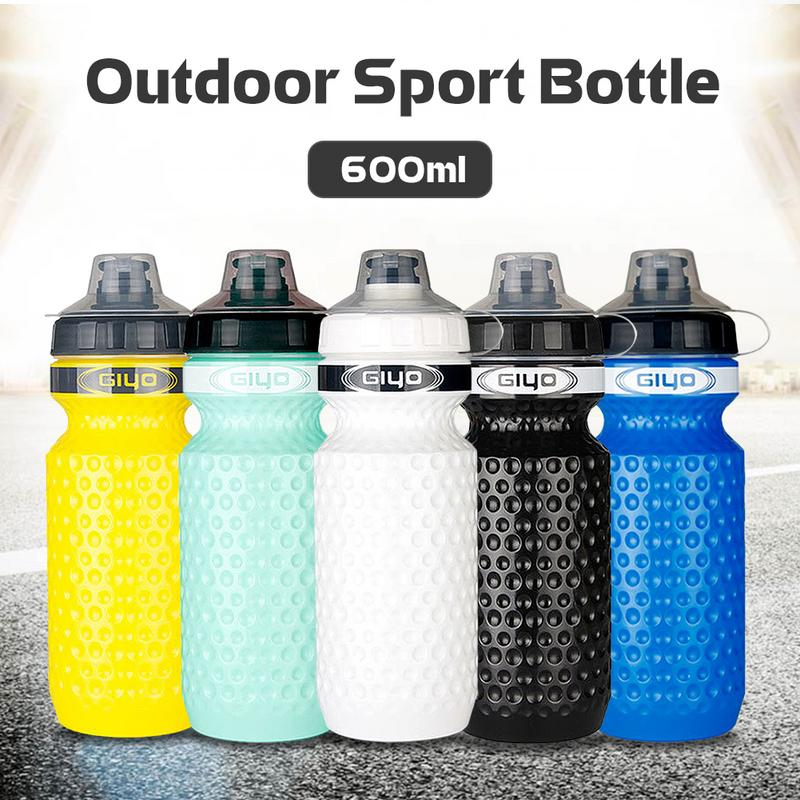 600ml Cycling Water Bottle Plastic Bicycle Kettle Squeeze Riding Sports Outdoor Mountain Road Cup Portable With Dustproof Cover