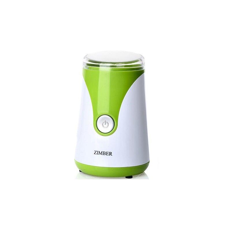 Кофемолка ZIMBER, 150W, 50 мл, зеленый цена и фото
