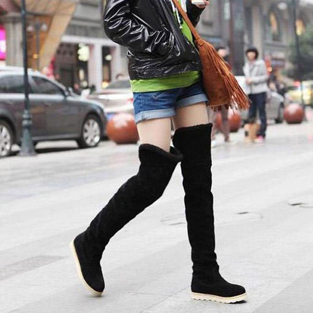 Neige Feminino Zapatos Long Chaud 2018 Nouveau Femme Taille Tube marron Mujer Genou Femmes jaune Le Bota 35 41 Bottes Noir Chaussures gris Sur Hiver qfOxPwf6E
