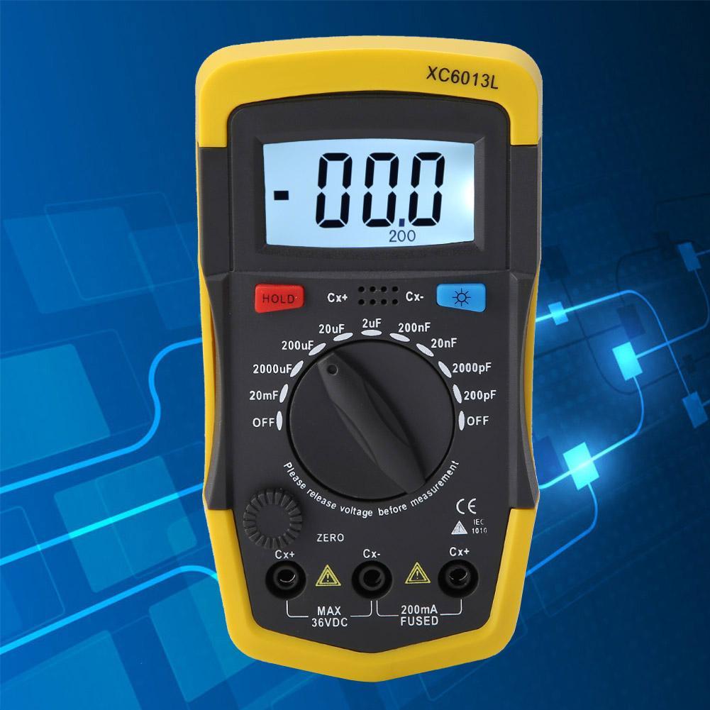 1PCS UA6013L Condensateur Numérique Auto Range Moniteur LCD Capacitance Testeur Compteur