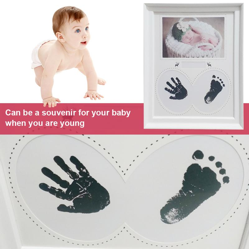 Baby Hand Foot Print Photo Frame Handprint Footprint Photo Frame Kit For Newborn Boys Girls Room Decoration Souvenir Gift