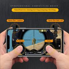 Gatilho Botão Objetivo Atirador G2 PUBG Mobile Game Controller Gamepad Joystick Para IPhone Android Phone Game Pad Accesorios 6 dedo
