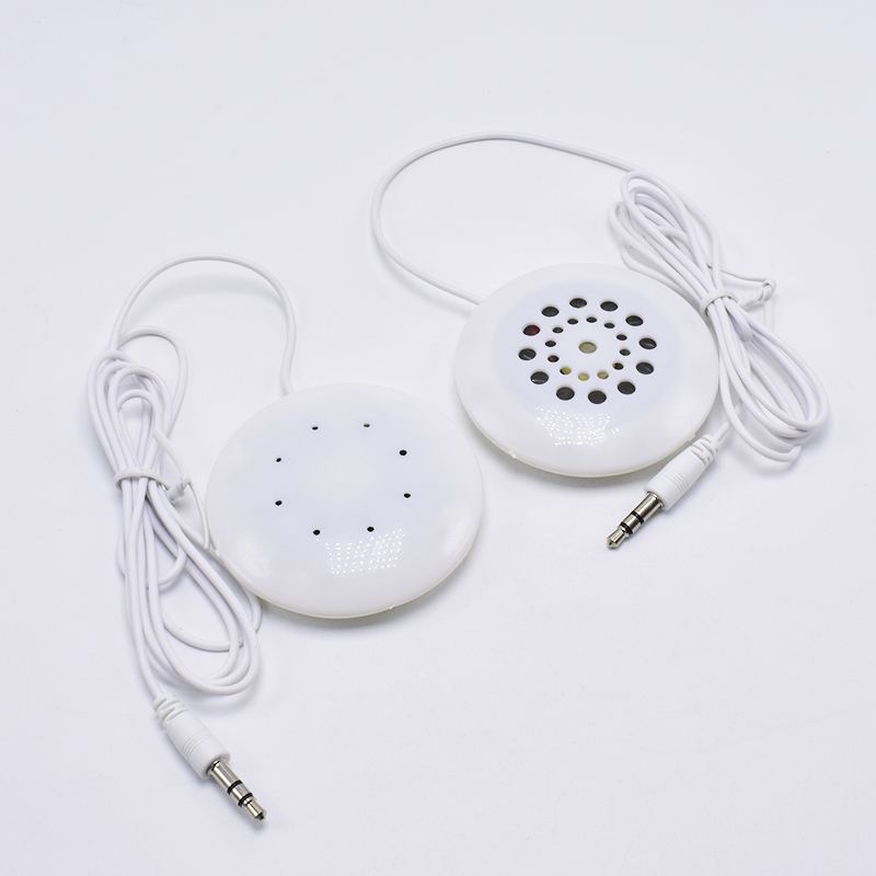 Fashion New Portable 3.5mm Quiet Pillow Speaker For MP3 MP4 CD IPod Phone White Hifi Sound Use For Sleep
