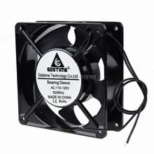 1 Piece Gdstime 110V/120V AC Fan 12038 120MM 12CM Exhaust Fan Axial Fan 120x120x38mm Sleeve Bearing 50/60Hz 2100RPM ebm papst 4850n 4850 n ac 230v 10w 9w 120x120x38mm server square fan